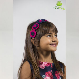 Cerchietto per capelli bambina con fiori in feltro - Pri Frog